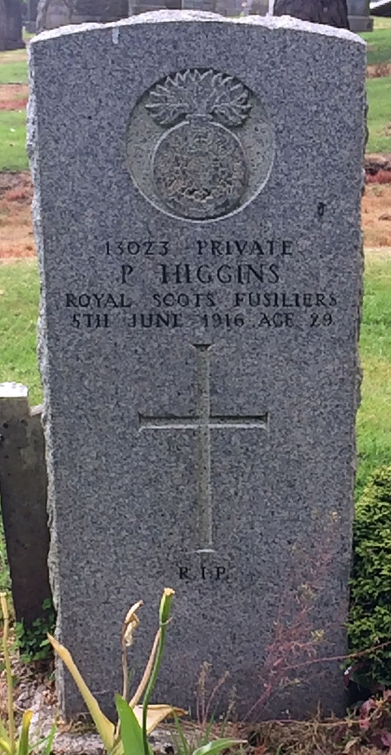 Peter Higgins Kilbarchan memorial